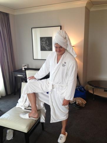 We decided to make use of the hotels spa facilities and headed down there dressed in hotel robes