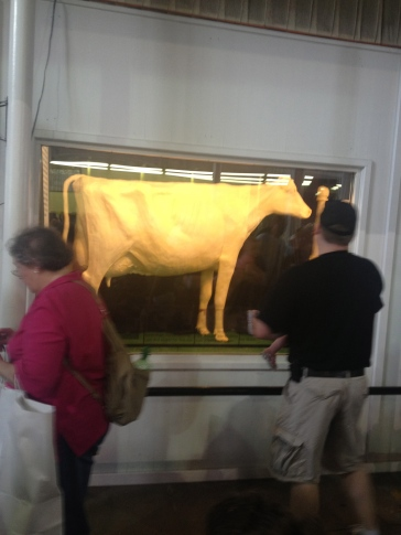 A cow made entirely of butter