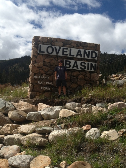 At the bottom of the Loveland Pass